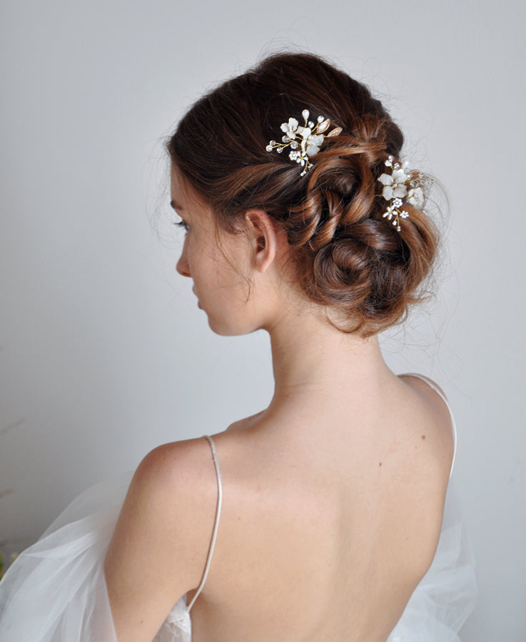bride crystal hair jewelry