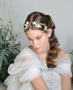 bride floral hairpiece