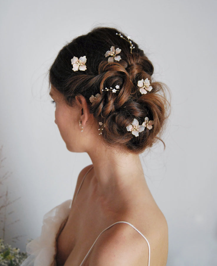 bride flower hairpieces