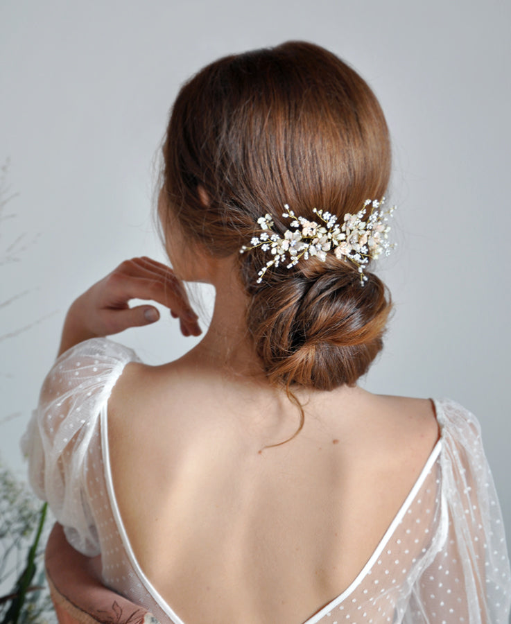 bride pearl hairpiece