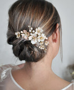 bride pink headpiece