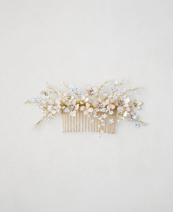 delightful pink bloom headpiece