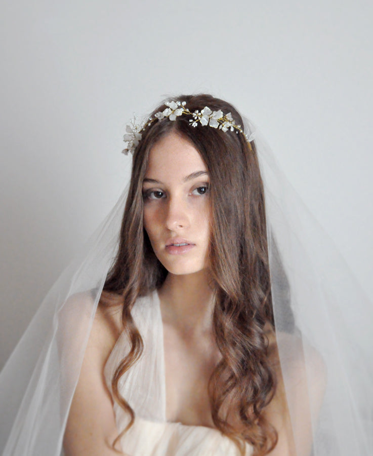 floral crown tiara for bride