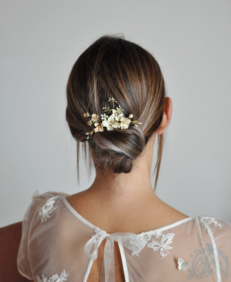 floral hair comb wedding