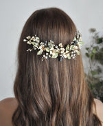 greenery wedding flower headpiece