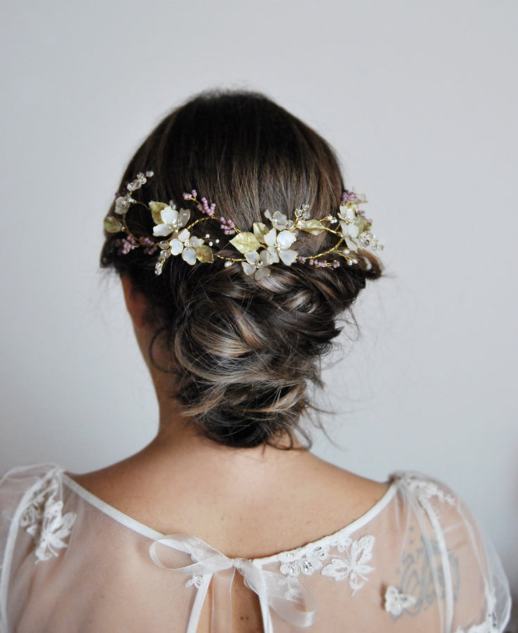 lilac bride headpiece