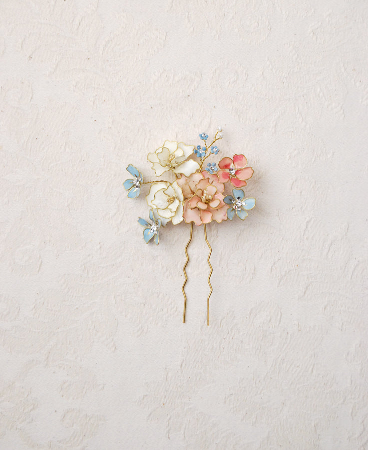 pastel wedding hair pin