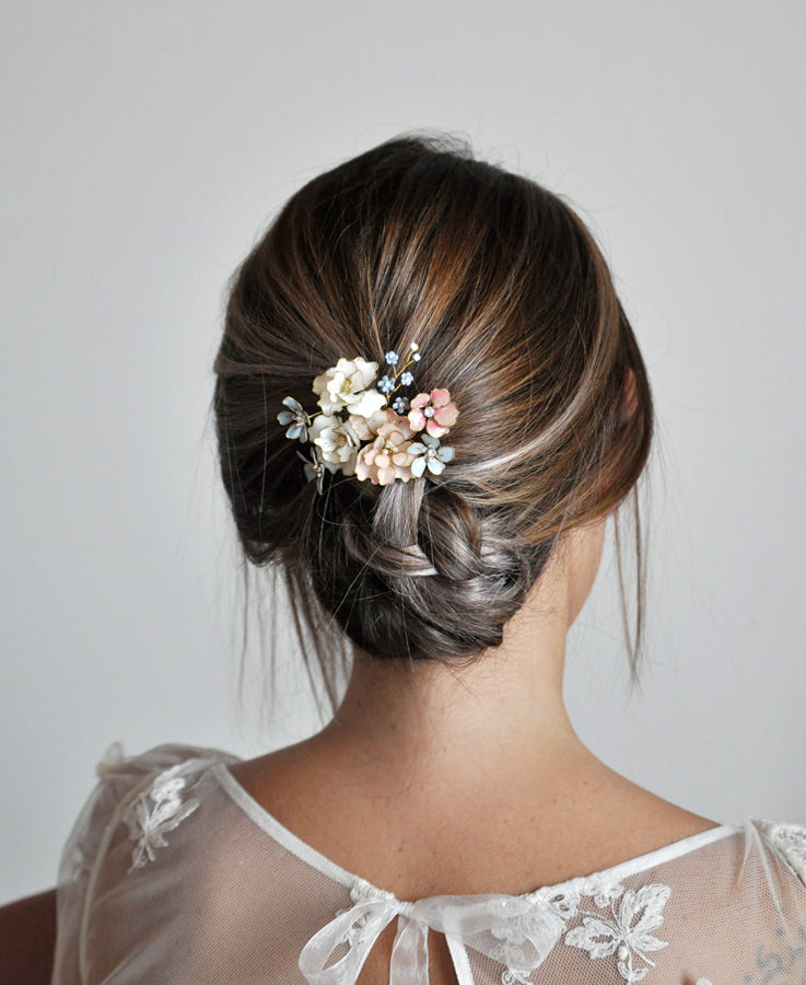 pastel wedding headpiece