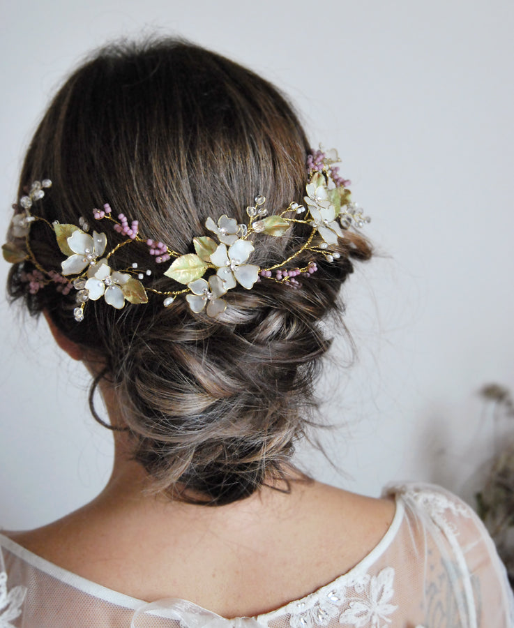 romantic bridal head piece jewelry