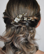 simple bride bobby pin hair accessory