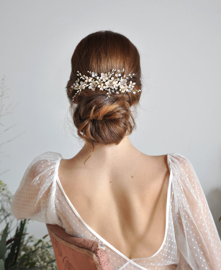 wedding floral head piece