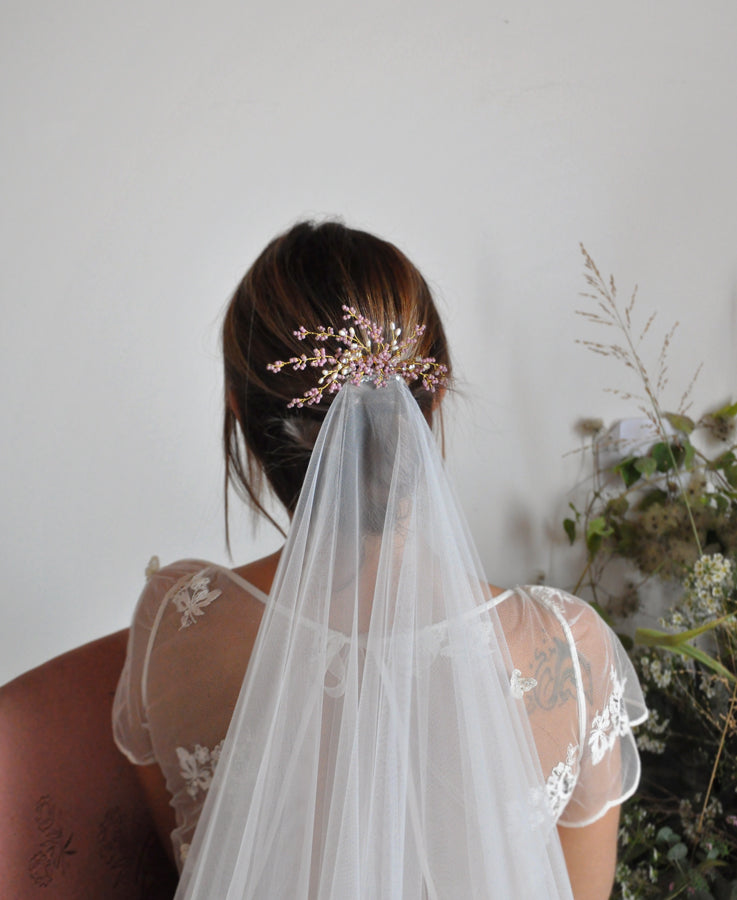 wedding lavender head piece