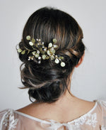 wedding leaf hair jewelry