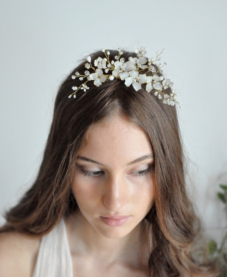 white crystal hairpiece
