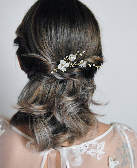 wedding flower bobby pin