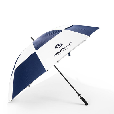 68-inch Navy Blue and White Golf umbrella