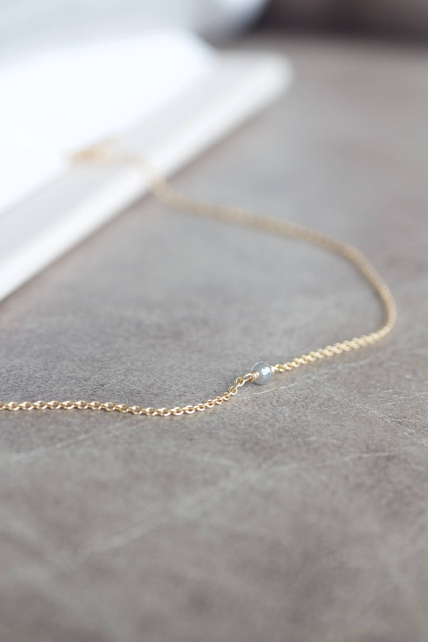 ALAIA GREY DIAMOND NECKLACE