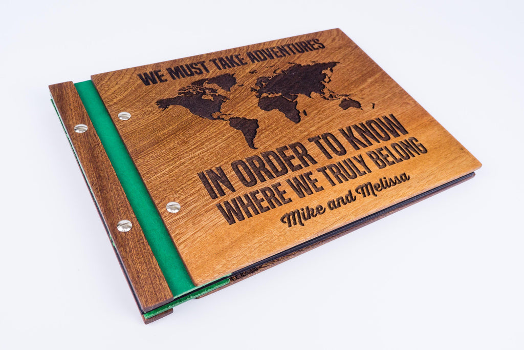 Custom Wood Travel Photo Album-Travel Scrapbook Album - waldengoods  - 1
