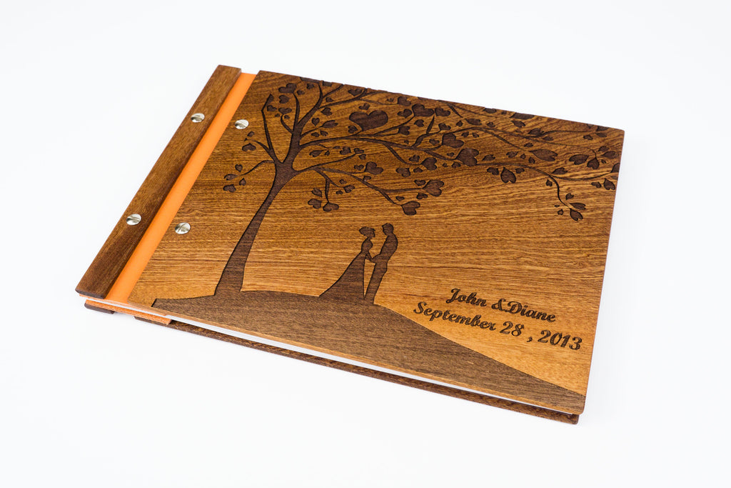 Custom Wood Wedding Photo Album - Guestbook - Scrapbook - waldengoods  - 1