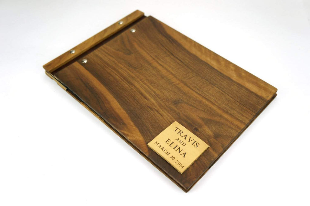 Custom Wood Wedding Album - Wedding Guest Book - waldengoods  - 1
