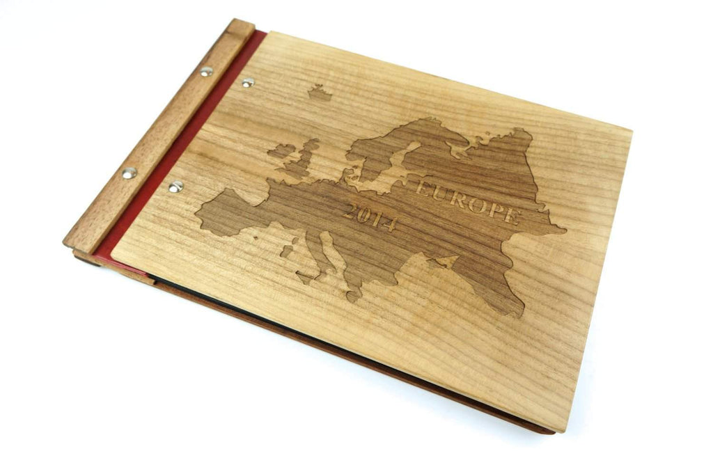 Customizable Wood Travel Photo Album-Travel Scrapbook - waldengoods  - 1