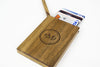 Personalized Wooden Wallet / Card Holder-Walnut - waldengoods  - 2