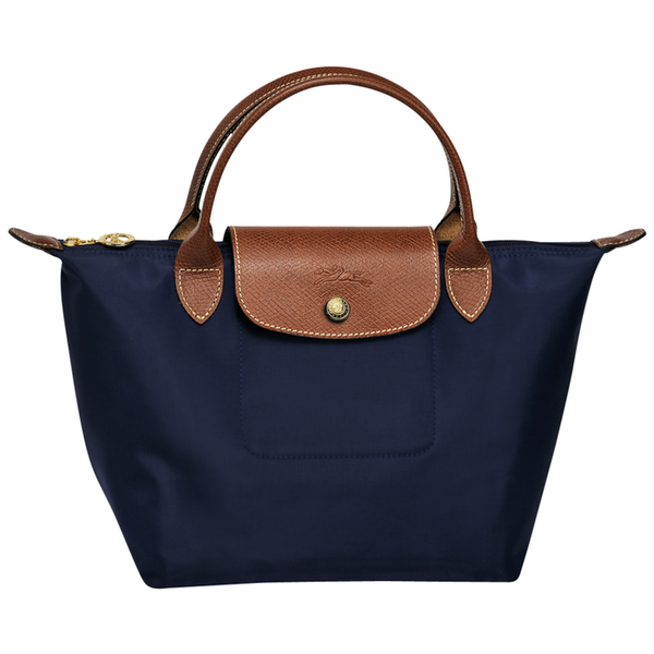 Longchamp - Le Pliage Top Handle Small Bag in Navy