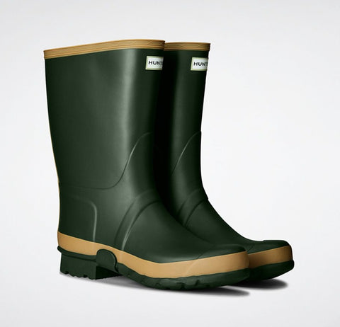 Hunter Women's Gardener Wellington Boots in Vintage Green