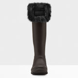 Hunter Original Faux Fur Cuff Boot Socks in Black