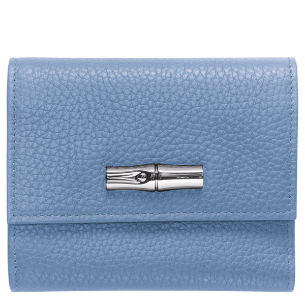 Longchamp - Roseau Essential Compact Purse/Wallet in Blue