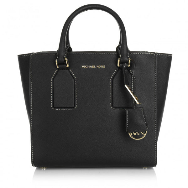 Michael Kors - Selby Medium Leather Satchel in Black