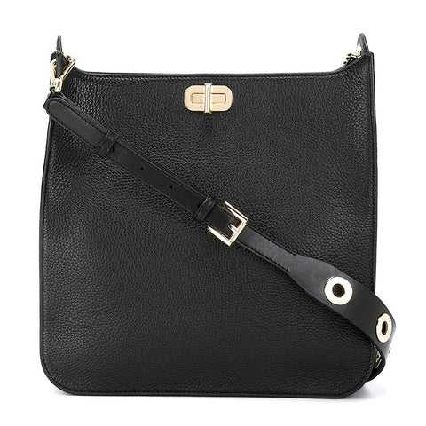 Michael Kors - Sullivan Large Leather North South Messenger Bag in Black