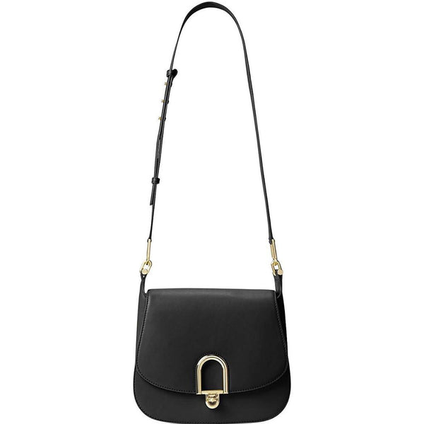Michael Kors - Delfina Leather Shoulder Bag in Black