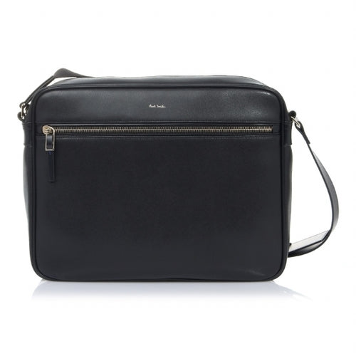 Paul Smith - City Embossed Leather Crossbody Messenger Bag in Black