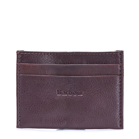 Barbour - Classic Collection Leather Card Holder in Brown - Card Wallet - Sinclairs Online - 1