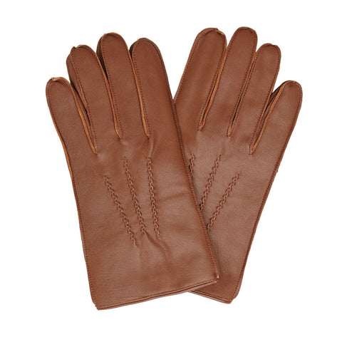 Barbour - Harton Leather Glove in Burnished Brown - Gloves - Sinclairs Online - 1