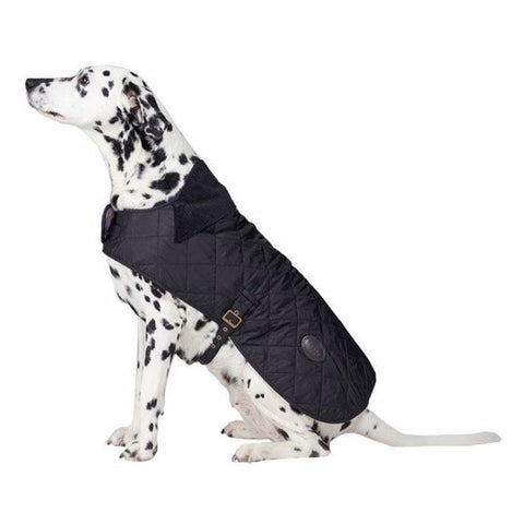Barbour - Quilted Dog Coat in Black/Tartan