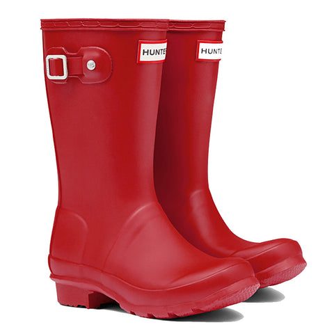 Hunter Original Kids Wellington Boots in Military Red