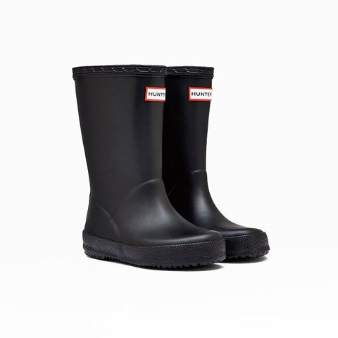 Hunter Kids First Classic Wellington Boot in Black