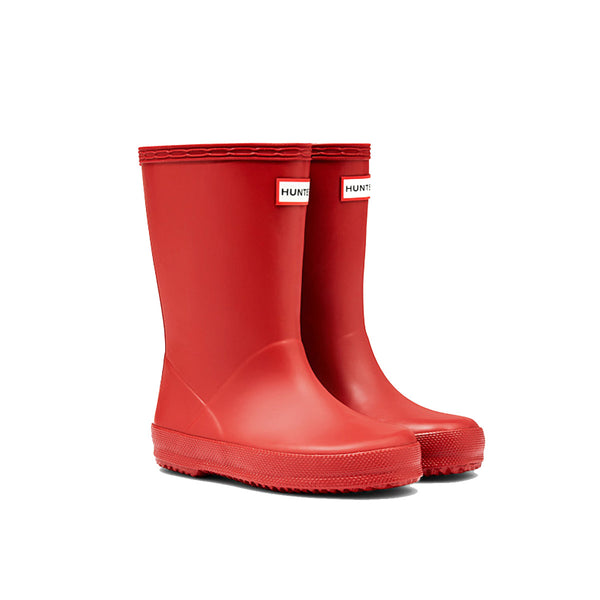 Hunter Kids First Classic Wellington Boot in Military Red