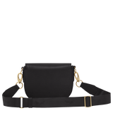 Longchamp - Cavalcade Crossbody Bag in Black with Pale Gold Hardware