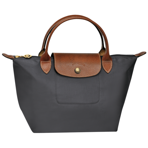 Longchamp - Le Pliage Top Handle Small Bag in Gun Metal