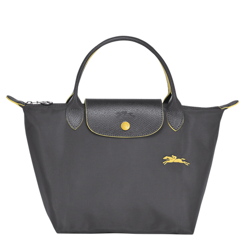 Longchamp - Le Pliage Club Top Handle Bag S in Gun Metal
