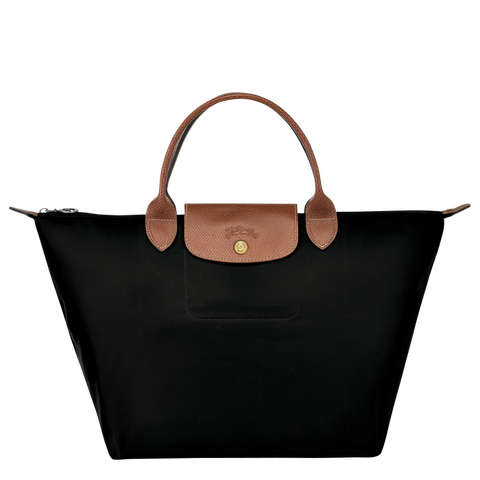 Longchamp - Le Pliage Top Handle M Bag in Black