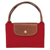 Longchamp - Le Pliage Top Handle M Bag in Red