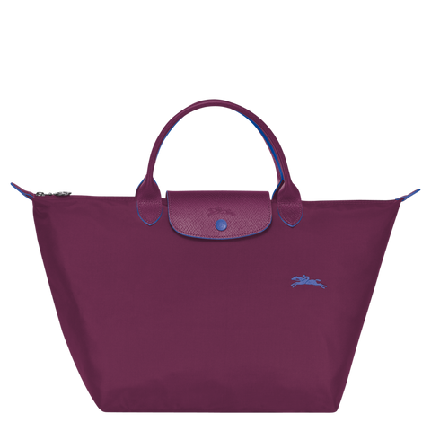Longchamp - Le Pliage Club Top Handle M Bag in Plum