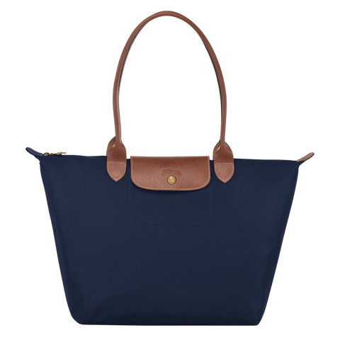 Longchamp - Le Pliage Large Tote Shoulder Bag in Navy