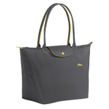 Longchamp - Le Pliage Club Tote Shoulder Bag L in Gun Metal