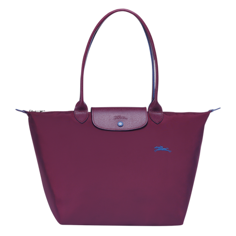 Longchamp - Le Pliage Club Tote Shoulder Bag L in Plum