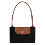 Longchamp - Le Pliage Long Handle Small Tote Bag in Black